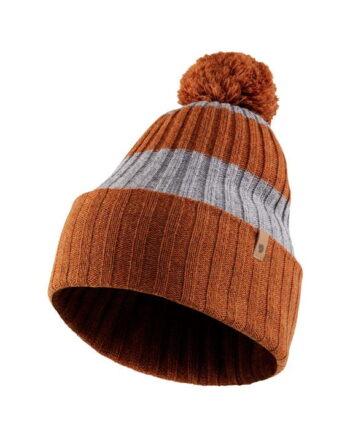 Fjällräven Byron Striped Pom Hat AUTUMN LEAF-GREY kjøper du på SQOOP outdoor (SQOOP.no)