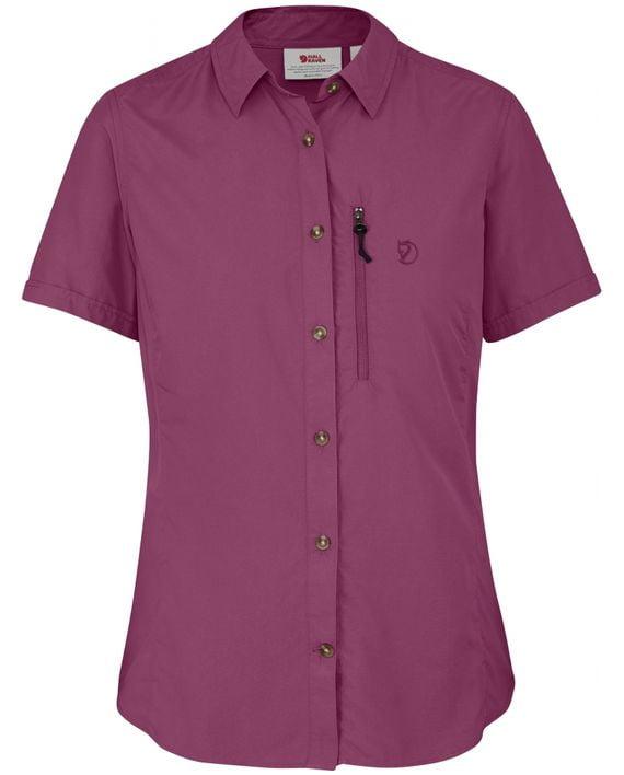 Fjällräven Abisko Hike Shirt SS W PLUM kjøper du på SQOOP outdoor (SQOOP.no)