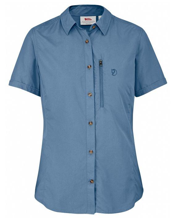 Fjällräven Abisko Hike Shirt SS W BLUE RIDGE kjøper du på SQOOP outdoor (SQOOP.no)