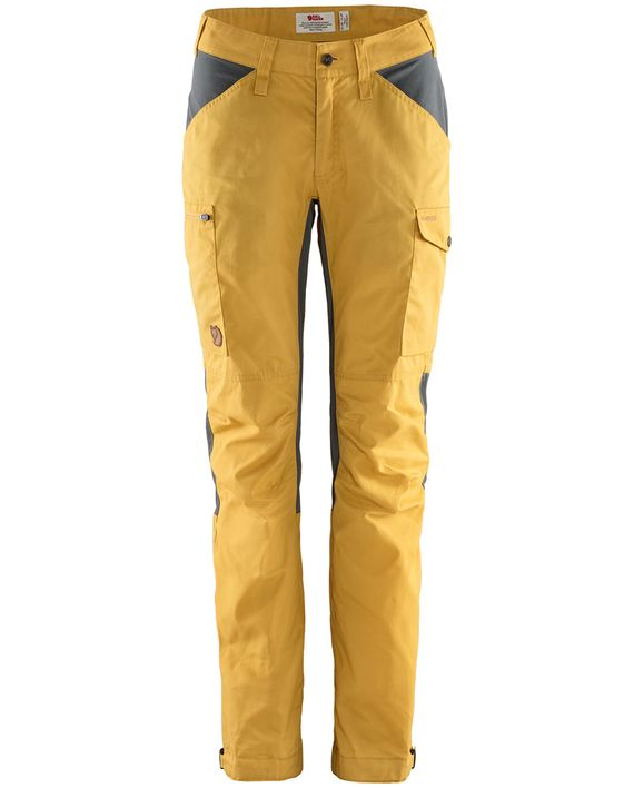Fjällräven Kaipak Trousers Curved W OCHRE-SUPER GREY kjøper du på SQOOP outdoor (SQOOP.no)