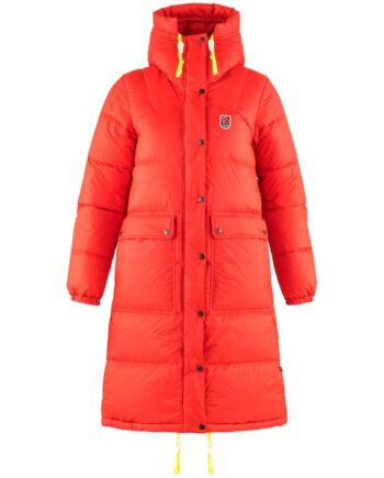 Fjällräven Expedition Long Down Parka W TRUE RED kjøper du på SQOOP outdoor (SQOOP.no)